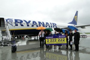 RYANAIR PASSENGER NO. 2,222,222 CHECKED-IN AT JASIONKA