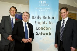 Aviation Minister announces Flybe have been awarded the contract for service to London Gatwick