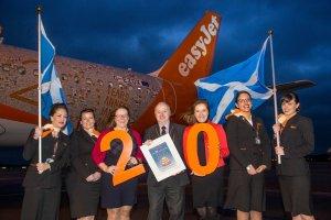 easyJet celebrates its 20th birthday at Aberdeen