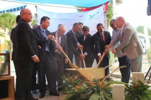 Groundbreaking Ceremony at Curaçao International Airport.