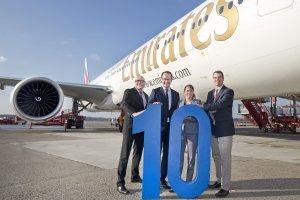 Tenth anniversary of the Hamburg – Dubai route