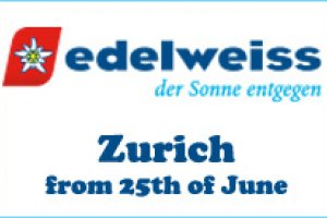 Edelweiss introduces flights to Zurich
