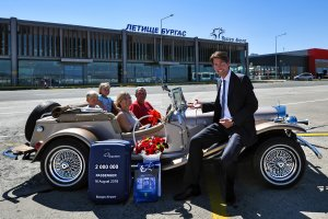 A VIP welcoming for the two-million passenger and his family at Burgas Airport