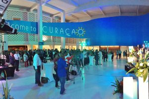Festive opening Arrivals Hall Curaçao International Airport.