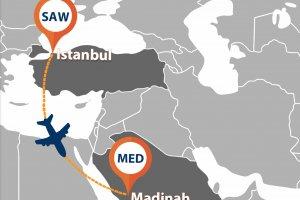 Madinah Airport welcomes Istanbul Sabiha Gökçen flights of Flynas