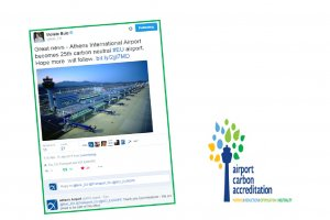 Athens International Airport becomes carbon neutral