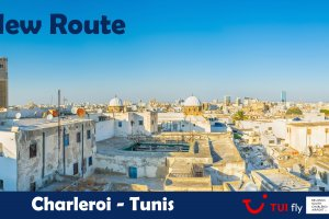 Flights return to Tunisia: TUI fly starts flying to Tunis from Brussels South Charleroi Airport