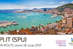 Wizz Air deploys 6th aircraft at Katowice Airport and announces a new route to the Croatian seaside