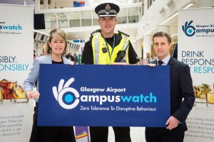 JUSTICE SECRETARY MICHAEL MATHESON HELPS LAUNCH GLASGOW AIRPORT'S 2017 CAMPUS WATCH INITIATIVE