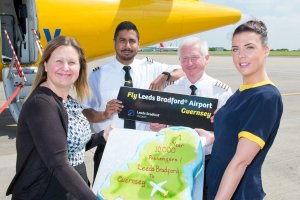 Aurigny adds fifth frequency to Guernsey route, marking the first anniversary of the route