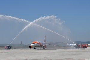 A FESTIVE OPENING OF EASYJET'S FIRST FLIGHT