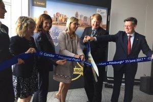 Pittsburgh International Celebrates Launch of New Service on Condor to Frankfurt