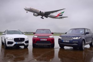Emirates SkyCargo operates freighter to transport exclusive Jaguar Land Rover cars from Birmingham Airport