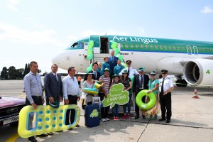 A 2 000 000 passenger welcome sprinkled with lucky green clovers and bright sunshine at Burgas Airport