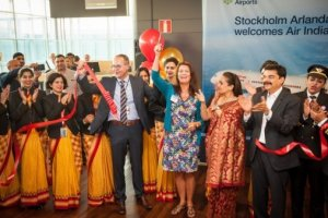 Air India´s direct route to Delhi from Stockholm Arlanda is now inaugurated