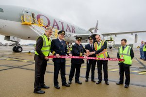 Qatar Airways Cargo's Inaugural Freighter Touches Down in Pittsburgh