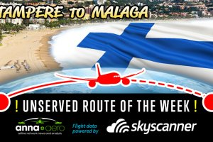 "Tampere-Malaga is ""Skyscanner Unserved Route of the Week"" with over 16,000 searches; Finnair's next regional route??"