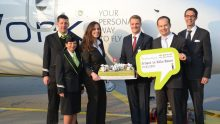 SkyWork Airlines inaugural flight to CGN 27.03.12 (1/5)