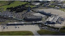 Aerial view of Edinburgh Airport