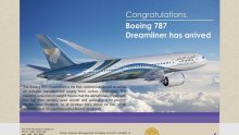Oman Air celebrates its first delivery of the 787 Dreamliner