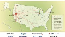 Reno Flight map