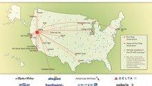 Reno Flight map