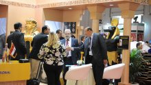 Networking at the Egypt stand
