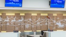 Chisinau Airport Winter Decorations