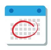 Calendar icon - key dates