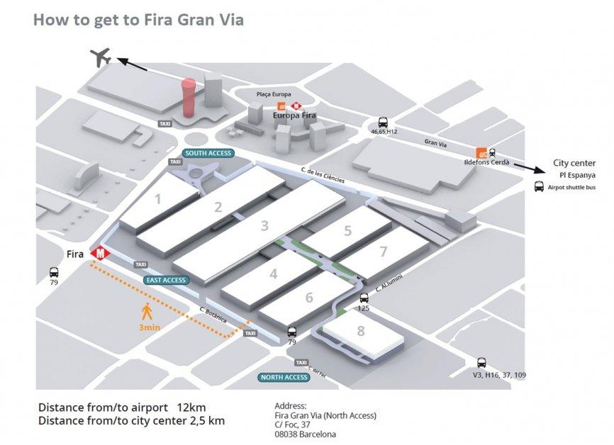 Fira Gran Via directions