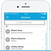 Event App Page - Attendee List