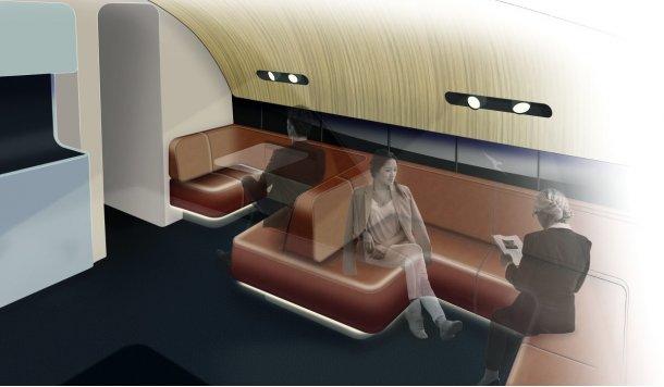 Qantas A380 upper deck lounge