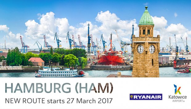 Ryanair launches new Katowice to Hamburg summer'17 route