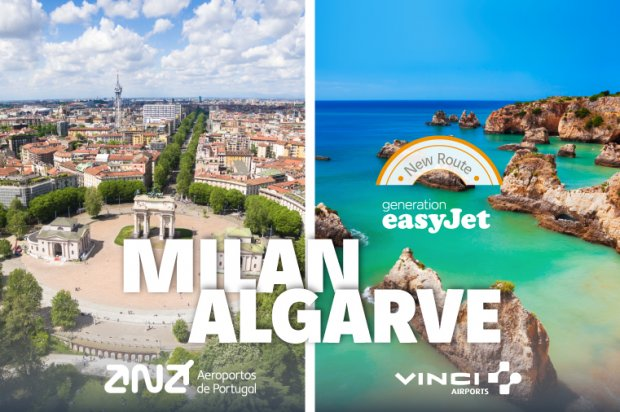 Milan, the new easyJet route from Faro Airport!