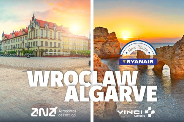 Ryanair opens a new route from Faro: Wroclaw