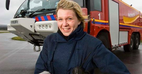 Inverness Airport - Scotland's only female Airport Fire Manager