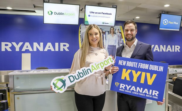 Ryanair Launches New Dublin-Kyiv Service