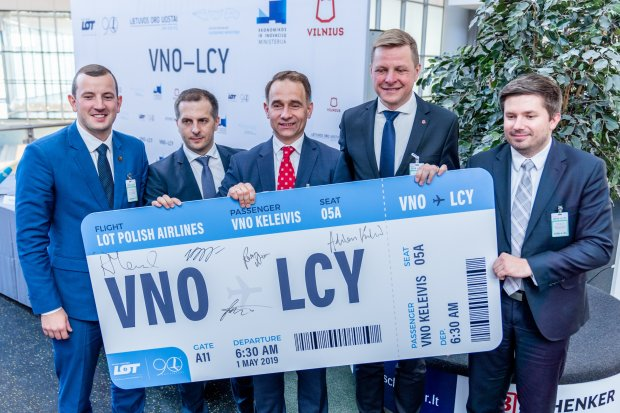 Flights to London's Finance Centre Launched from Vilnius Airport