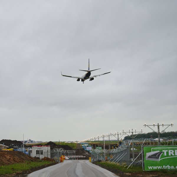 Work begins to extend the runway