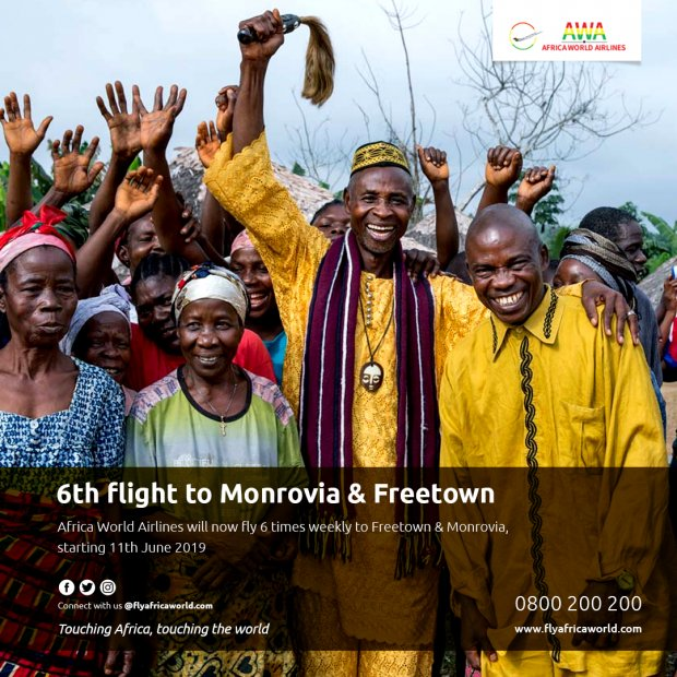 Africa World Airlines increases Freetown and Monrovia flights