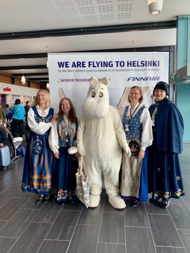 Welcome to Trondheim, Finnair!
