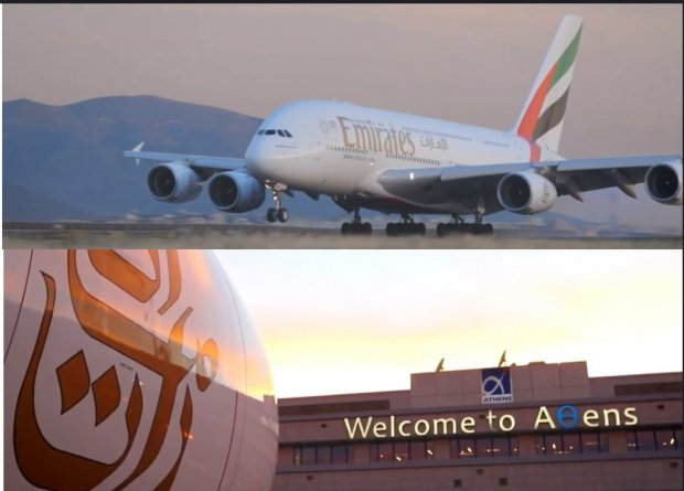 Emirates with A380 back in Athens this summer!