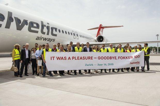 Helvetic Airways says goodbye to its last Fokker 100