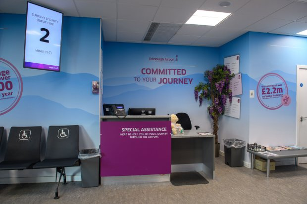 Edinburgh Airport's Accessibility service rated 'Very Good'