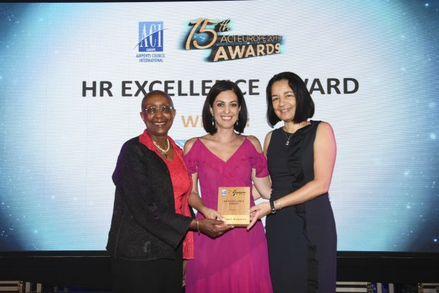 Hermes Airports wins the HR Excellence Award at the 15th ACI Europe « Best Airport Awards »