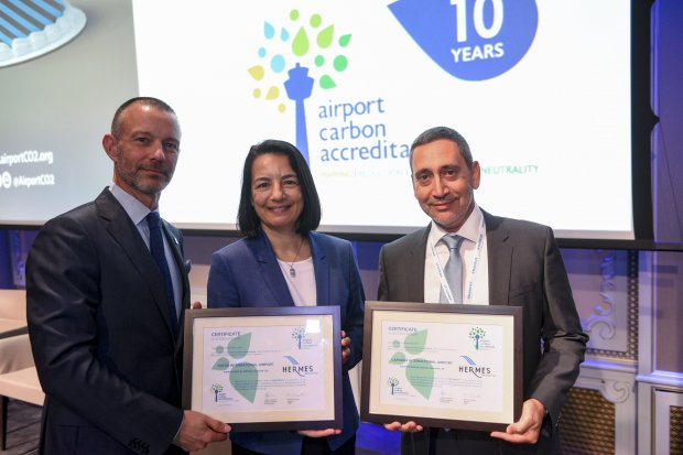 """Hermes Airports receives the Airport Carbon Accreditation Level 3+ """"Neutrality"""""""