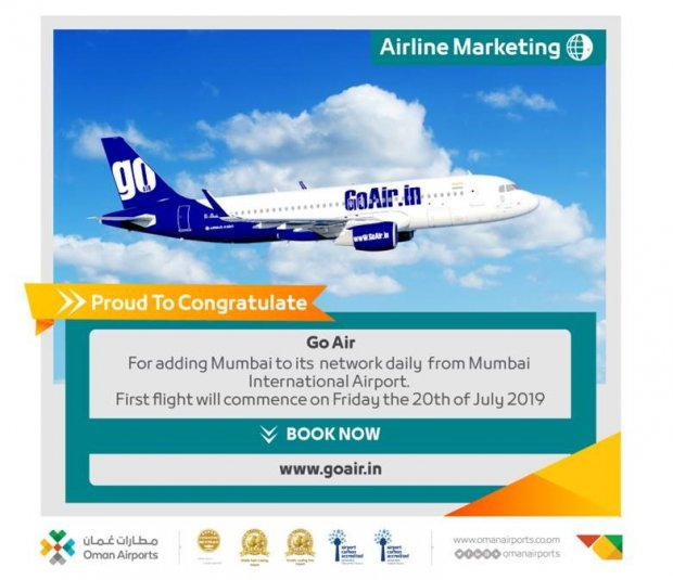 Go Air announces network daily from Mumbai to Muscat International Airport
