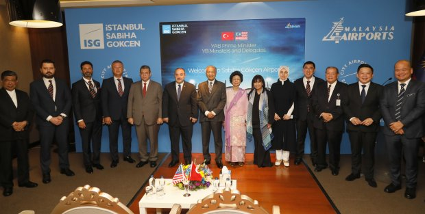 Prime Minister Visits Malaysia-Owned Istanbul Sabiha Gökçen International Airport In Turkey