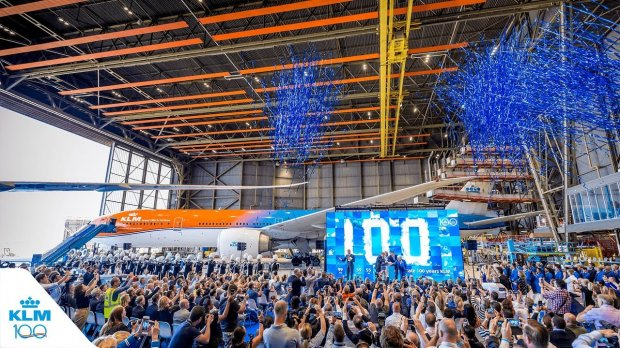 AUA joins KLM's Official Countdown To 100 Years
