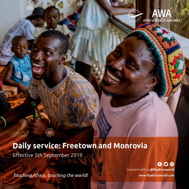 Africa World Airlines to operate daily to Freetown and Monrovia